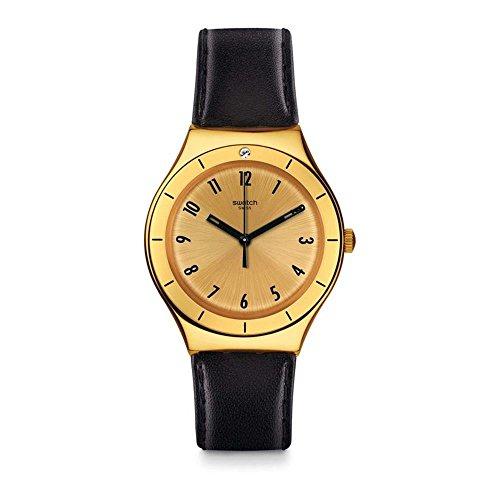 Swatch Reloj Analogico para Unisex de Cuarzo con Correa en Cuero YGG105