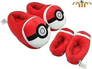 "Pokemon Pokeball Red Plush Slipper Approx 11"" Long"