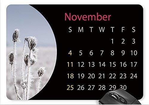 Mausmattenkalender november mit verwelkten pflanzen mauspad '9,8 x 8,3'