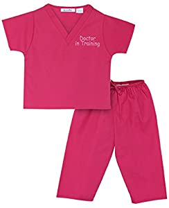 Kids Scrubs in 100% All-Natural Cotton (no polyester or synthetic blend) Available Sizes: Baby Scrubs (size 0-6m to 12-18m), Toddler Scrubs (size 2T to 4T) and Kids Scrubs (size 5 to 8) Our scrubs for kids are just like the ones doctors and nurses we...