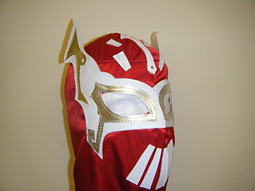 WRESTLING MASKS UK Rouge Flamme – Mexicain Faite Adulte sans fermoirs Mask