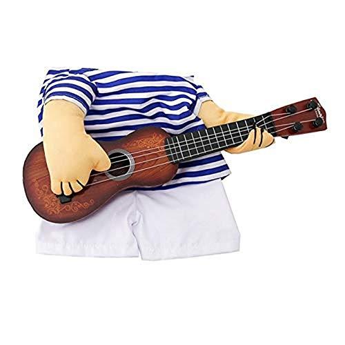 Costume de Guitare pour Chat, Déguisements Costume de Guitare d'Animaux de Compagnie Noël...