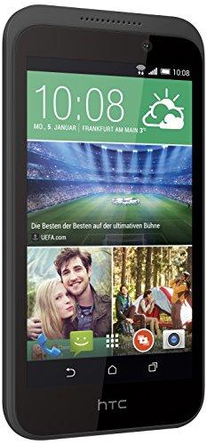 HTC 99HABW013-00 Desire 320 Smartphone (11,4 cm (4,5 Zoll), 1,3GHz, 4GB interner Speicher, 5 Megapixel Kamera, Bluetooth, Android) Terra weiß