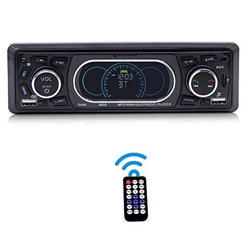 Docooler SWM 8809 Bluetooth Fahrzeug Auto MP3 Player Stereo Audio Player mit UKW-Radio AUX TF Karte U Disk Play Eingebautes Mikrofon Fernbedienung