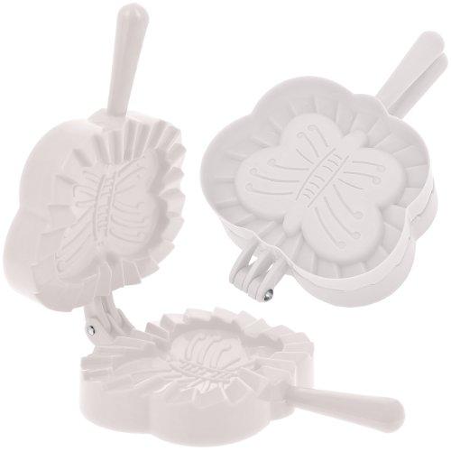 Promobo - Emporte pièce Fabrique à Chausson Moule Cuisine Forme Papillon Blanc