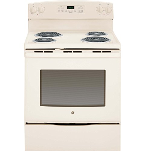 GE JB255DJCC 5.3 Cu.Ft. Free-Standing Electric Range, 30', Bisque