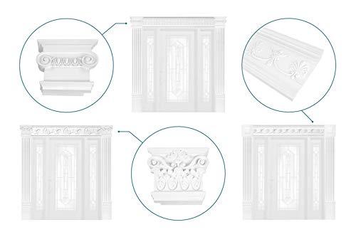 Türumrandung DK05 - Haustür Rahmen aus PU Kunststoff weiß, Sets-/ & Komponentenauswahl - Grand Decor (Komplettset DK052 inkl. Montagekleber)