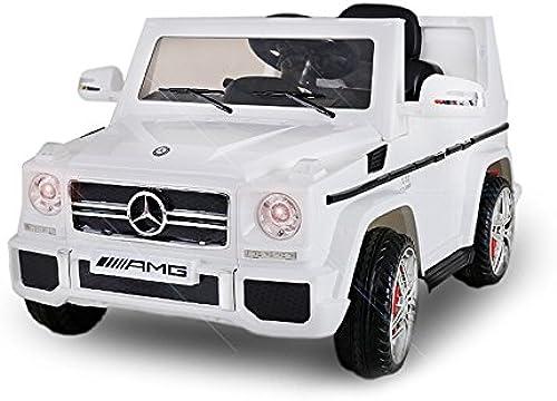 Kaufexpress Mercedes Benz G65 AMG Jeep SUV Kinderfahrzeug Kinderauto Elektroauto Fernbedienung MP3 Anschluss in Weiß