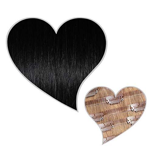 GLOBAL EXTEND® Clip in Extensions nahtlos schwarz#01 60cm 240g Volume Seamless Clips aus 100% Echthaar Haarverlängerung nahtlose Haarclips Haarverdichtung Real Human Hair