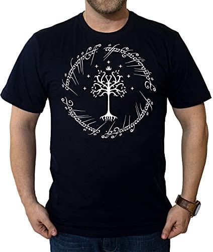 Camiseta O Senhor Dos Anéis Árvore Branca Camisa Nerd (P)