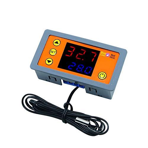 Hochpräziser digitaler Temperaturalarm-LED-Thermostat mit Temperaturalarm-Host Digitaler Temperaturregler Thermostat DC 12V Auto Inkubator-Kühlschrank + Netzkabel