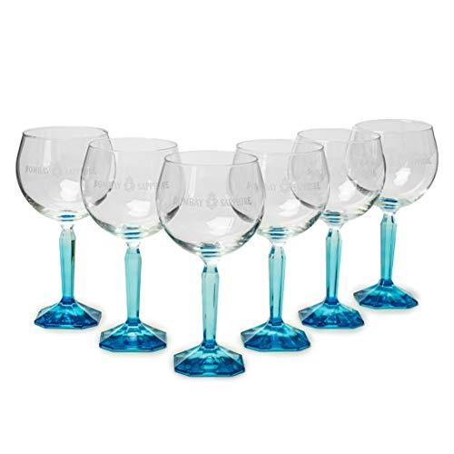 MERCHANDISING 6 Stück Bombay Sapphire Gin Gläser/Kelche/Cocktailgläser, Longdrinkgläser