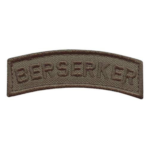 2AFTER1 Berserker Shoulder Tab Ranger Green Viking Norse Icelandic Heathen Army Military Morale Tactical Touch Fastener Patch