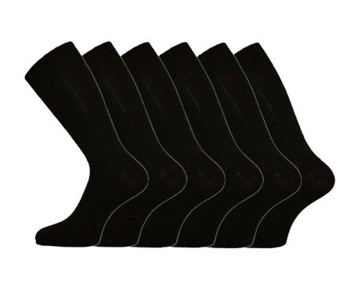 I-Smalls Aler Chaussettes Lycra Coton Confortable Lot de 6 Homme (Noir) 38-45