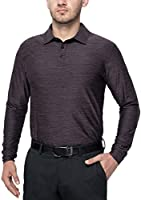 XGEAR Men's UPF 50+ Golf Polo Shirts Long Sleeve Workout Sport Home Indoor Shirts