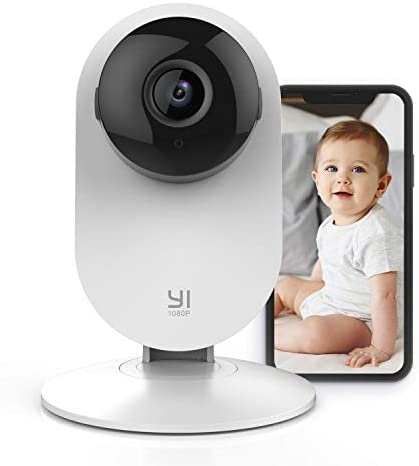 YI Wireless Baby Monitor with Camera and Audio HD WiFi Pet Cam Sound Motion Human Detection product image