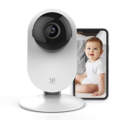 YI Wireless Baby Monitor with Camera and Audio HD WiFi Pet Cam Sound Motion Human Detection 2 Way Audio Smartphone app Night Vision Nanny Elder Works with Alexa iOS Android