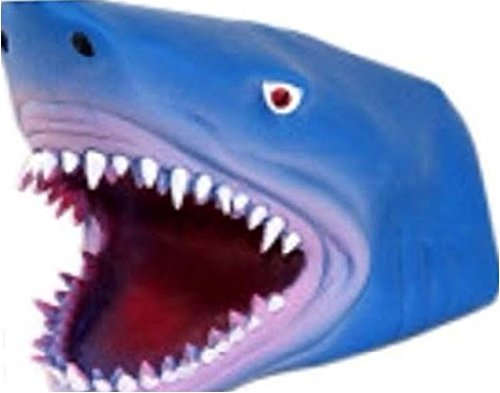 S.S. Soft Rubber Realistic 6 Inch Great Blue Shark Hand Puppet Toy