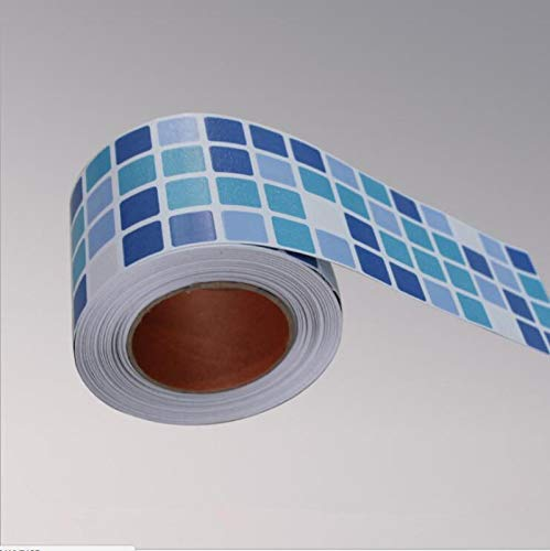 Bathroom Kitchen Wall Waterproof Wallpaper Roll Sticker /3d Mosaic Sticker Borders Tile Stickers/Fashion Home Decor Sticker Style6