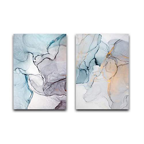 XYDBB Pintar por Numeros Suave Acuarela Abstracta Pared Arte Imagen Lienzo Cartel impresión decoración Pared Sala decoración 40x60 cm sin Marco 35