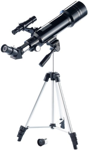 Zavarius Einsteiger Teleskop: Linsen-Teleskop 70/400 mit 3-Bein-Stativ & Transport-Rucksack (Fernrohr)