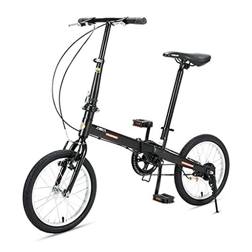ZXQZ Bicicletas Plegables de 16 Pulgadas, Bicicletas Ligeras para Estudiantes, para Parques,...