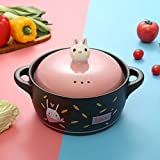 Yxxc Ceramic Dutch Oven Cooking Pots Clay Stew Pot - Improve Nutrition, Health and Energy Saving-2.8L Soup Pot