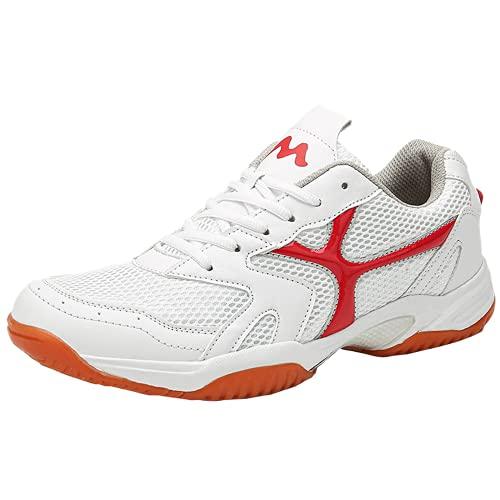 Zapatillas de deporte modernas de malla transpirable para correr en carretera antideslizante suela suave casual atlético zapatos para caminar, Red, 40 2/3 EU