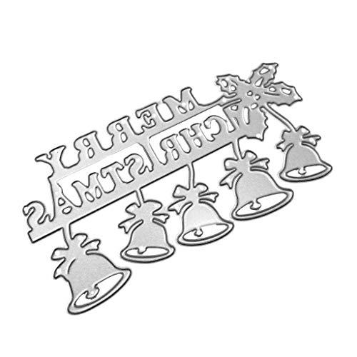 DUESI - Fustelle a forma di campana di Natale, stencil fai da te per scrapbooking, goffratura, decorazione di