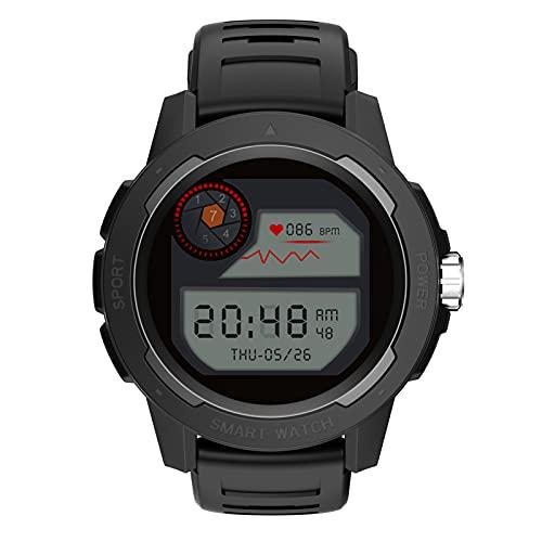 BNMY Smartwatch,Reloj Inteligente con Pulsómetro,Calorías,Monitor De Sueño,Podómetro Monitores De Actividad Smartwatch Hombre Reloj Deportivo para Android iOS,Negro