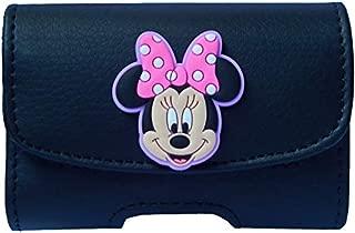 Premium 3D Minnie Mouse Pouch Case with Belt Clip for Tandem Insulin Pump (All Models: t:Slim/t:Slim G4 / t:Slim X2 / t:Flex) - SNK Retail Packaging (H1BK/MN)