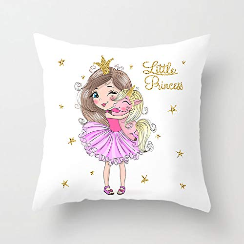 HPX Pack of 2 Peach Skin Princess Series Decorative Square Pillowcase Soft Solid Cushion Case for Sofa Bedroom Car 18 x 18 Inch White (DRD117_8)