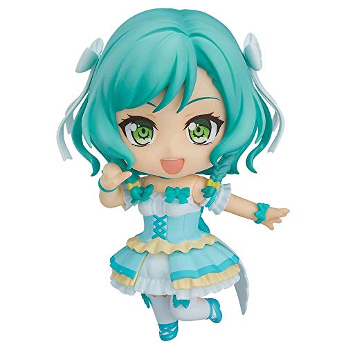 JJRPPFF Q Version Hikawa Hina Figur, 3,9 Zoll BanG Dream Charakter Modell, mehrere Zubehörteile enthalten, Joint Movement Nendoroid, PVC Material Game Girl Figma (für Geschenksammlung)