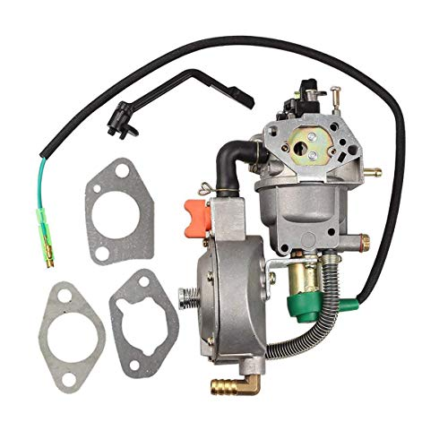 Amhousejoy Dual Fuel Carburetor with Manual Choke Fit for Honda GX390 188F Gas Generator LPG CNG Conversion Kit