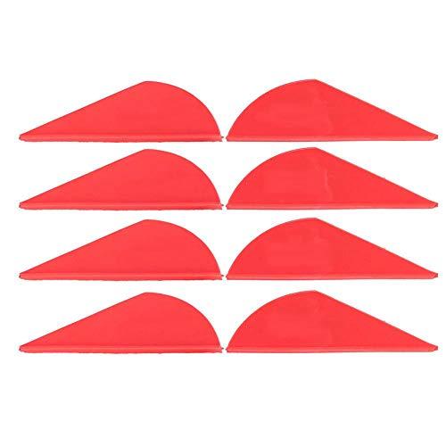 Pluma de la Flecha del Tiro al Arco, 36pcs Flecha de Tiro al Arco Fletches Plumas Fletching de Goma Accesorio de Bricolaje para Arco Compuesto(Rojo)
