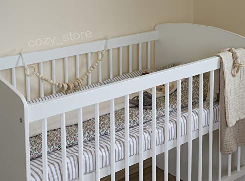SOCOZY® | White Solid Pine Wood Baby Cot Bed I 120×60 I Bed for Baby | 3 Mattress Positions | ECO Paint | Minimalistic |