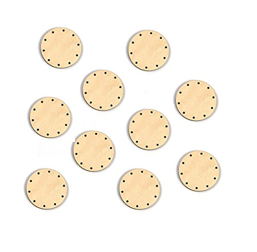10x Korbboden, rund, 5cm für 2mm Rohr - Flechten, Korbflechten, Schilf Set, Peddigrohr, Flechtmaterial, Flechtset, Rattan