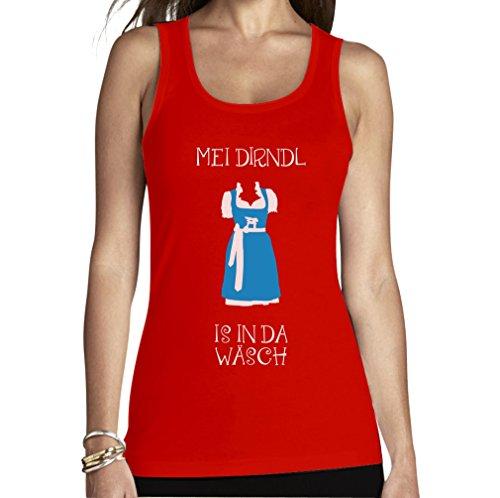 Shirtgeil klederdrachtshirt grappige dirndl vervanging - mijn dirndl is In Da Wäsch vrouwen tank top