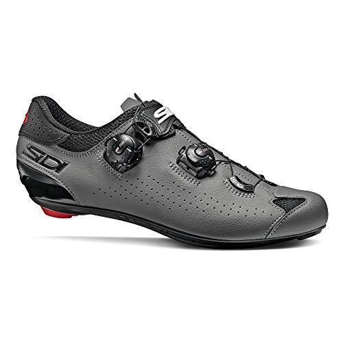 Sidi Scape Herren-Fahrradschuhe Genius 10, Schwarz Grau, 43,5 EU