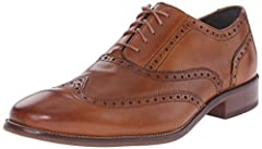Wingtip ox in rich, dressy leather uppers Fully lined Full leather sole with wheeled welt and rubber forepart and heel tap
