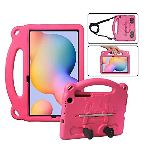 Funda KINGSKEEN para Samsung Galaxy Tab S6 Lite 10,4 '2020 (SM-P610 / P615), Funda Protectora de EVA para niños a Prueba de Golpes, con asa, Soporte Integrado, portalápices y Bandolera (Rose)