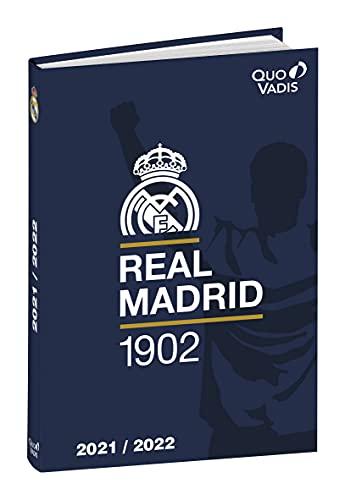 Quo Vadis – 1 Agenda escolar diaria Foot Real de Madrid – agosto de 2021 a julio de 2022-12 x 17 cm