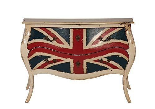 Sit Möbel Kommode, POMPIDOU, Mahagoni + Tischlerplatte, Rot, Blau und weiß,
