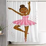 VINISATH Duschvorhang,Ballerina tanzende Tochter Classic Performance Hobby Geburtstag Kinder,wasserdichter Badvorhang mit 12 Haken Duschvorhangringen 180x180cm