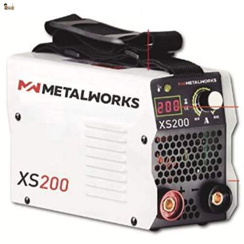 BricoLoco Soldador inverter 200 Amperios. Con maletín que incluye cables de soldadura, masa, pinza portaelectrodos, careta y cepillo. ULTRALIGERO y SUPERREDUCIDO.