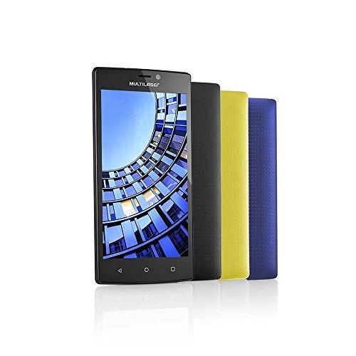 """Celular Smartphone Multilaser MS60 P9005 Preto -Dual Chip, 4G,Tela HD de 5.5,Câmera13 MP + Frontal 8MP, Quad Core 1.3Ghz, 16GB, 2 RAM,Android 5.1"""