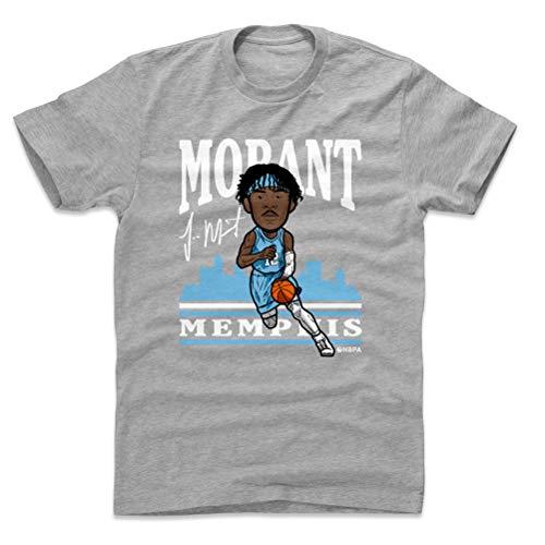 500 LEVEL Ja Morant Shirt (Cotton, Large, Heather Gray) - Memphis Men's Apparel - Ja Morant Toon WHT