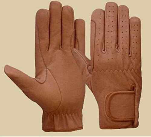 Reiten Handschuhe Alle Leder braun & schwarz Premium Qualität Neu Braun hautfarben S