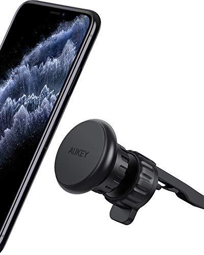 AUKEY 【Clip Amélioré 2021】 Support Téléphone Voiture Super Magnétique Support de Smartphone pour Grille d'air de Voiture