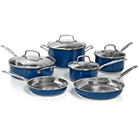 Cuisinart Stainless Steel Chef's Classic 10-Piece Cookware Set (Blue)